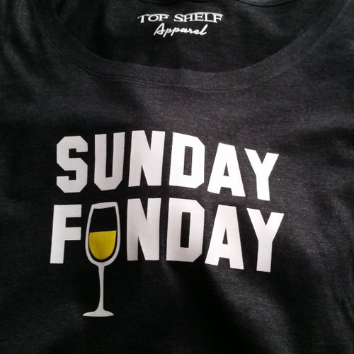 Image of SUNDAY FUNDAY scoopneck