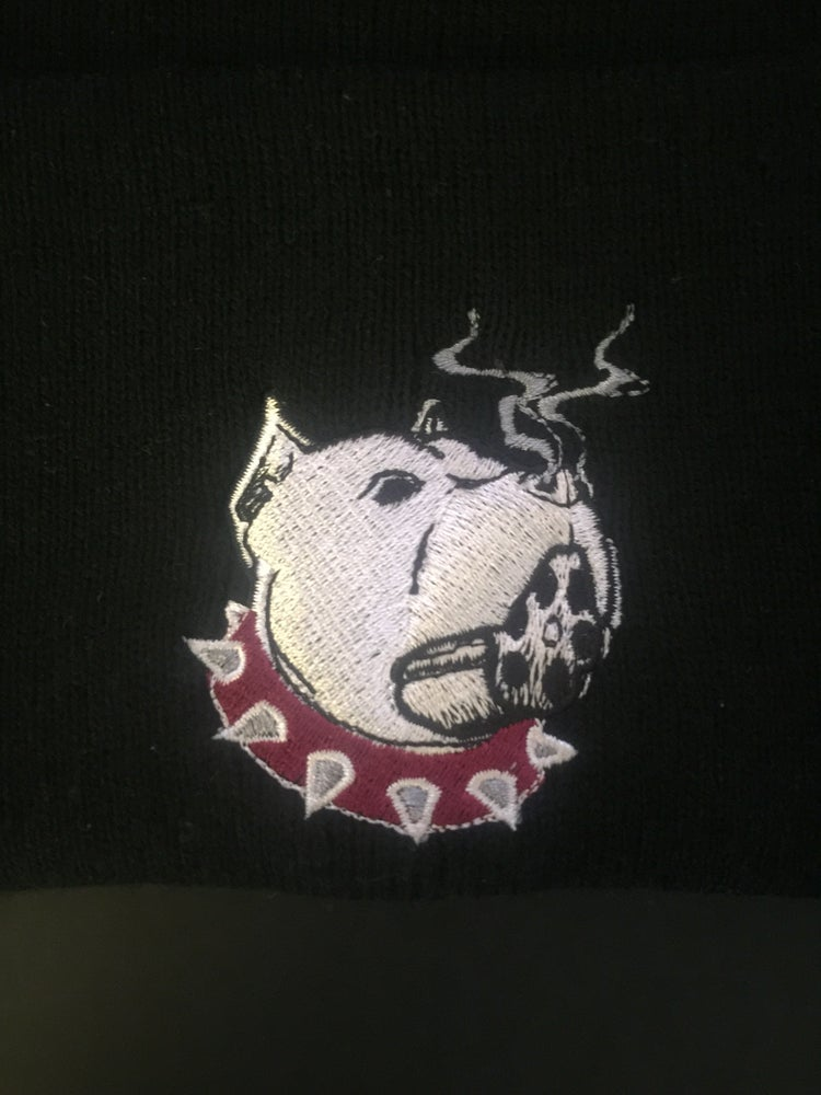 "Image of ""SNUBNOSE"" Logo Beanies -Front & Back of beanie (Color options in drop dow menu OR EMAIL TO REQUEST)"