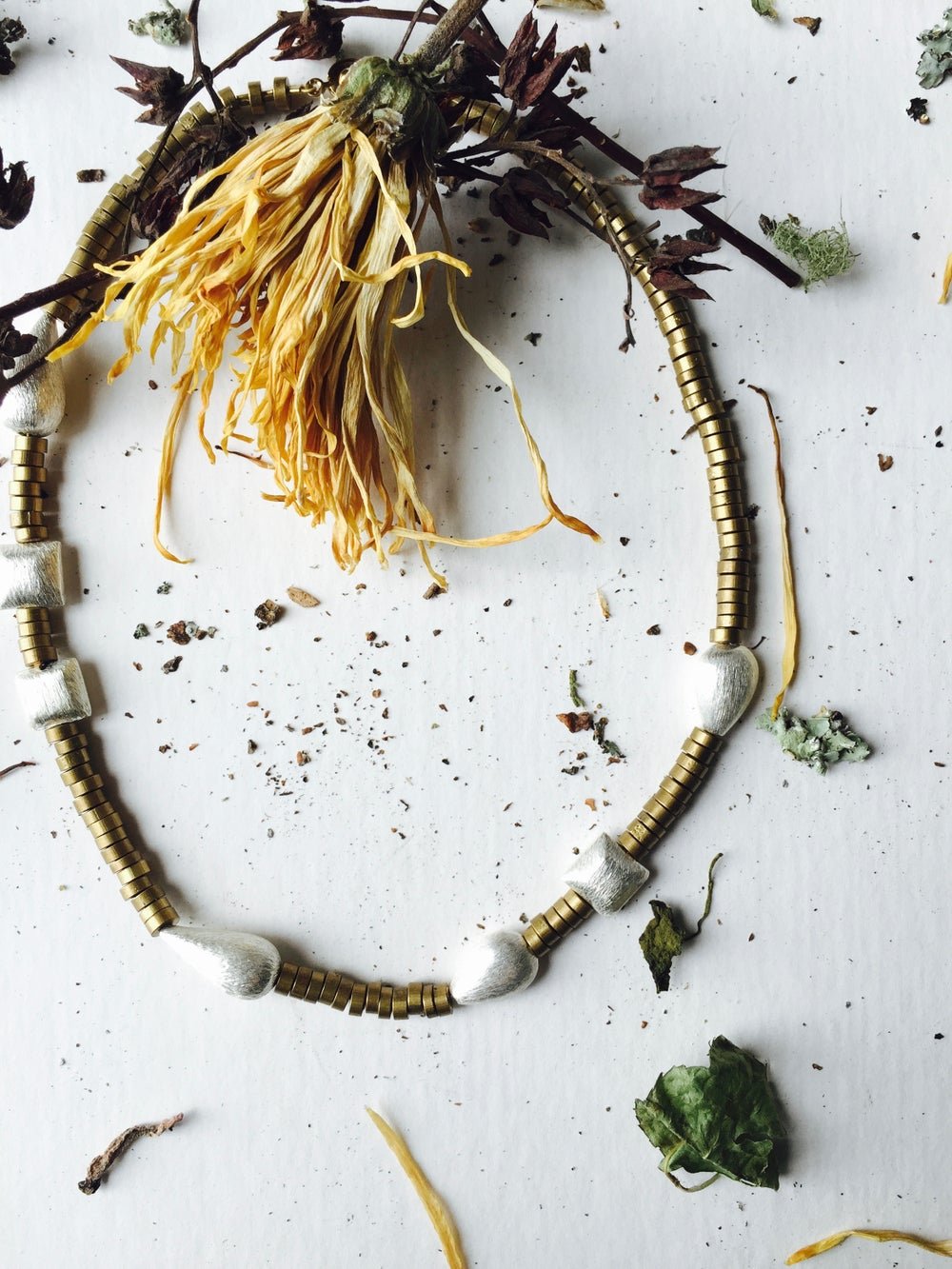Image of Asymmetrical Seedhead Necklace