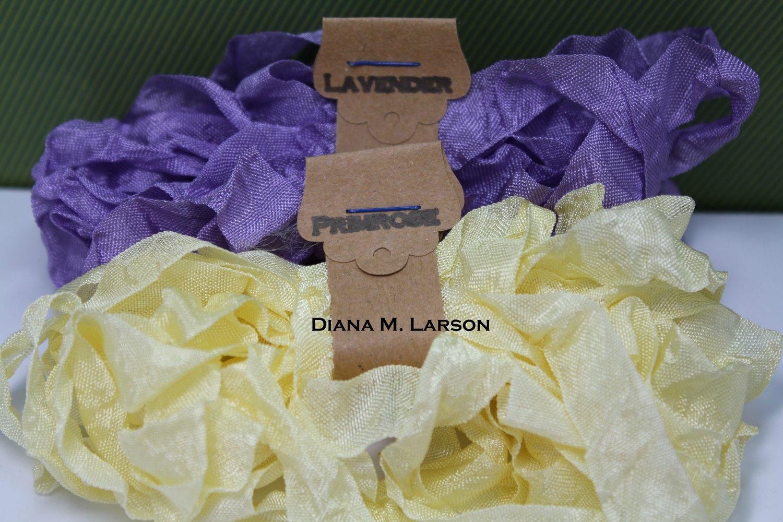 Image of Spring Bundle #1 Primrose and Lavender, Crinkle Ribbon