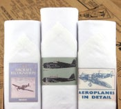 Image of Box of III Men's Handkerchiefs: Aeroplanes