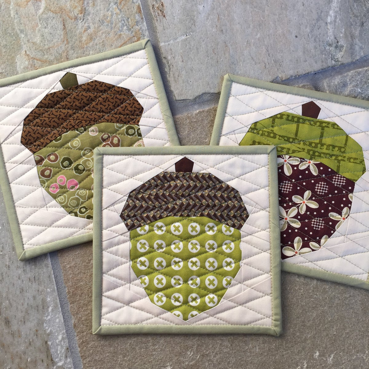 Acorn Quilt Block Pattern 8 Quot X 8 Quot Modern Quilting By B
