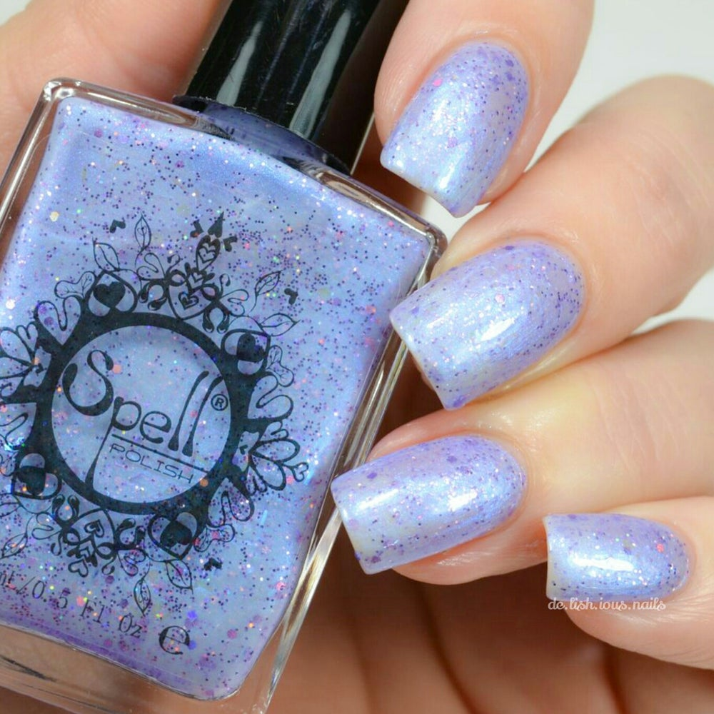 "Image of ~Bottling Moonbeams~ periwinkle blue glitter shimmer Spell nail polish ""Legends & Dreams""!"