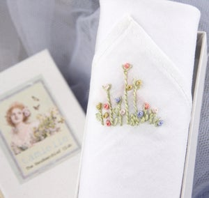 Image of Woman's Handkerchief in a Gift Box: Buds