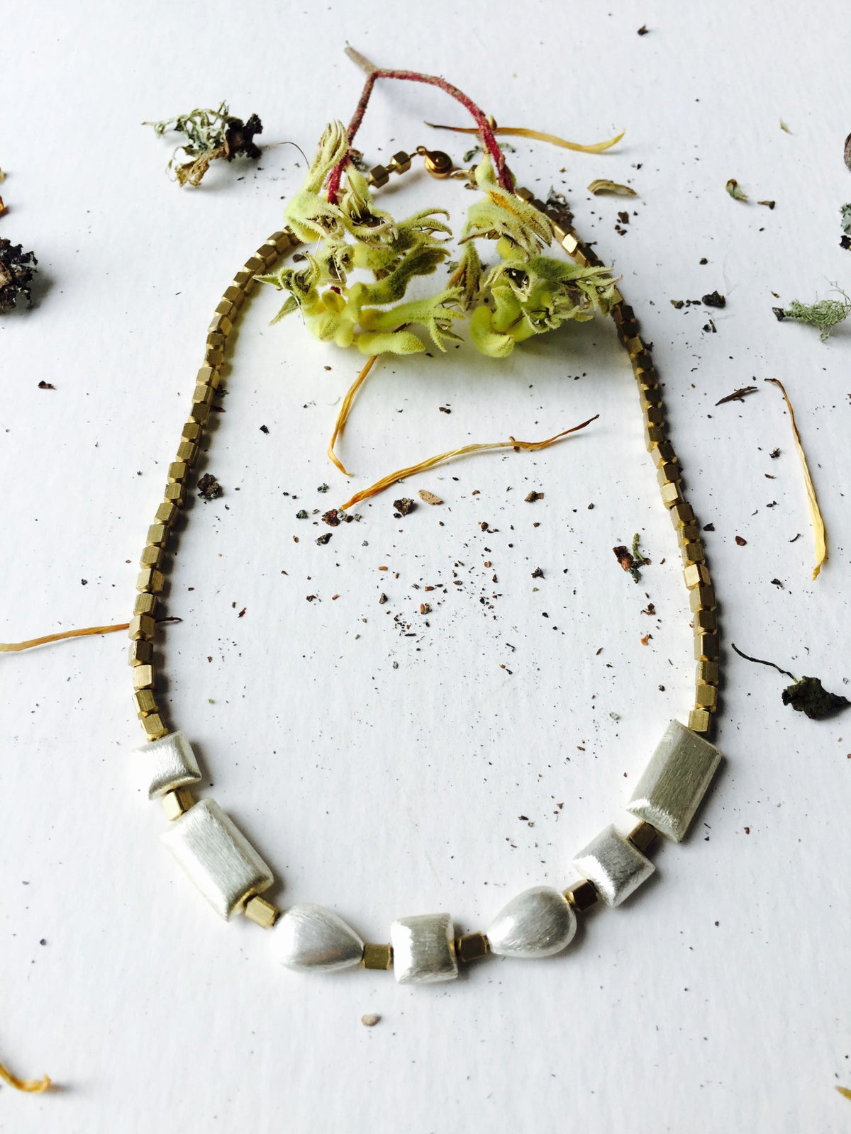 Image of Silver buds necklace
