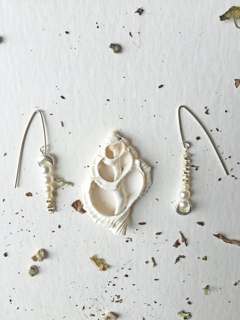 Image of Asymmetrical Sea Earrings