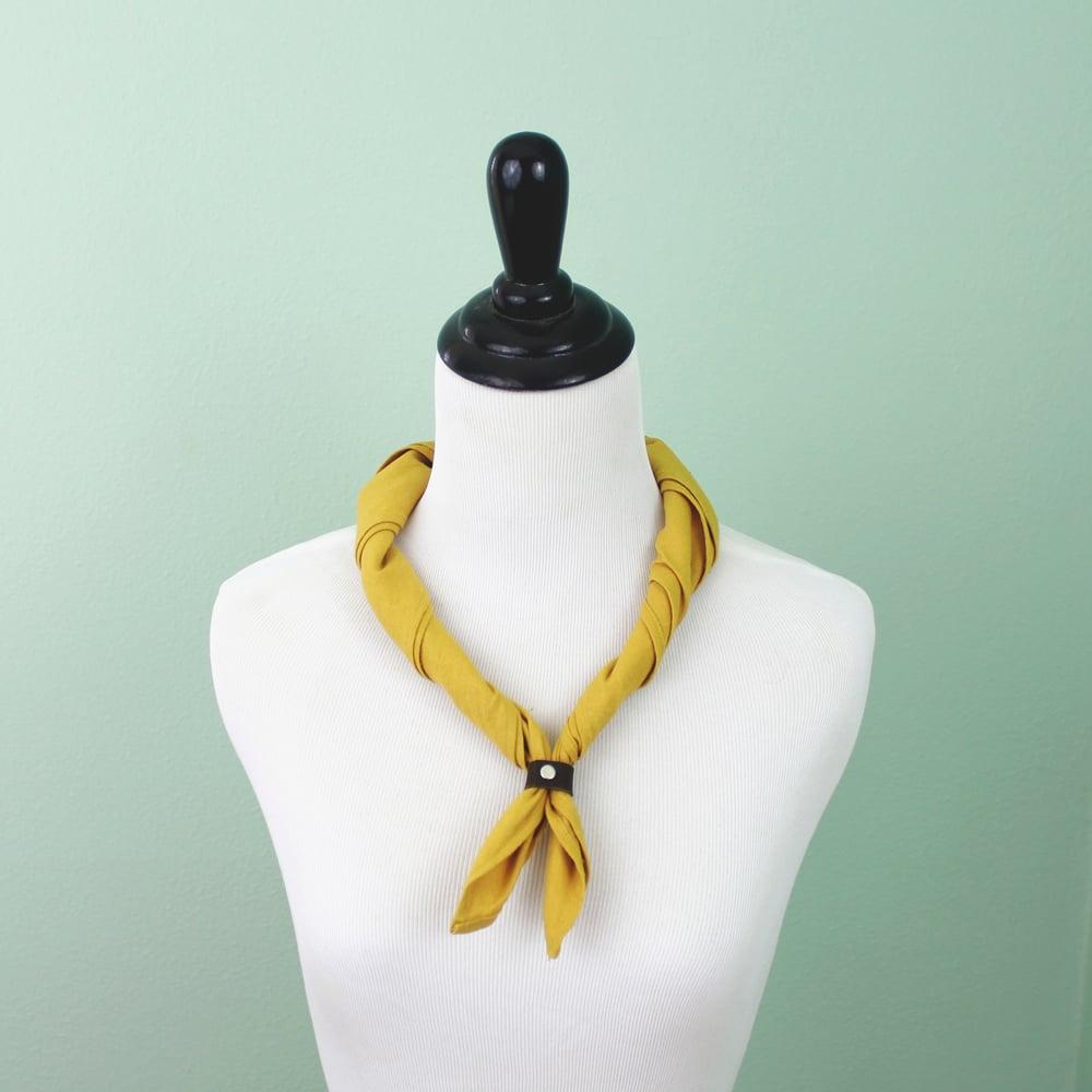 Image of Mustard Linen Bandana