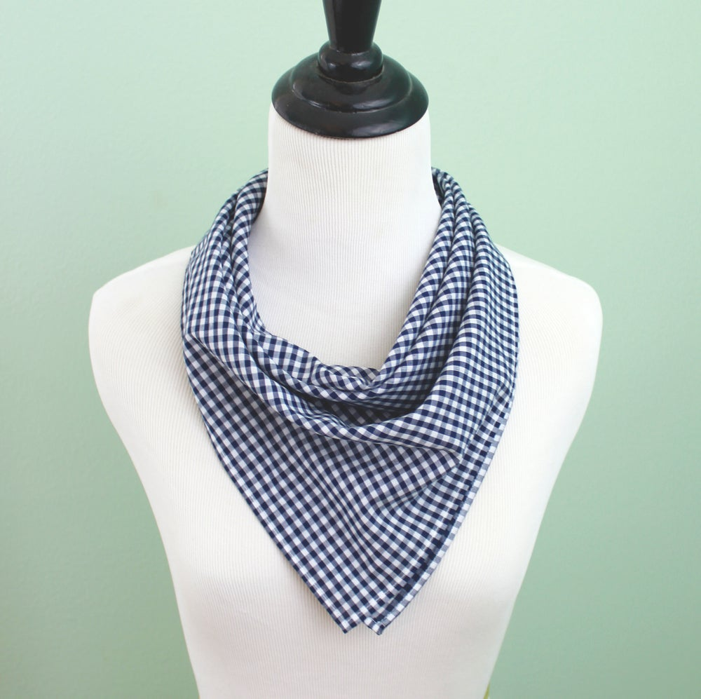 Image of Navy Gingham Bandana