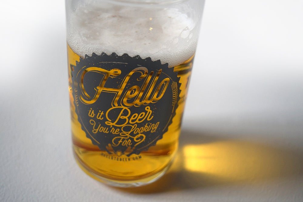 "Image of ""Hello is it Beer You're Looking For?"" pint glass!"