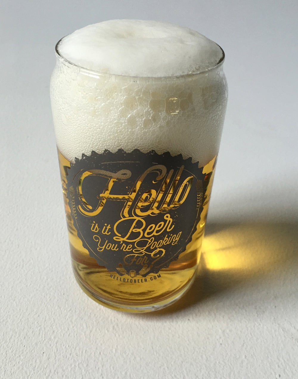 """Hello is it Beer You're Looking For?"" pint glass!"
