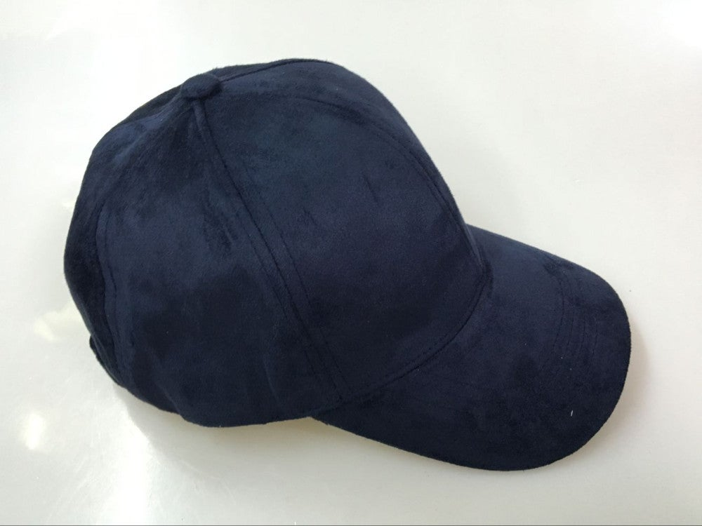 Image of SUEDE CAP / NAVY