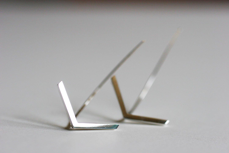 Image of Arrow Earring Sterling Silver