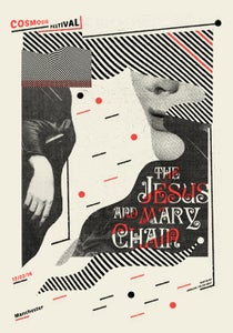 Image of THE JESUS & MARY CHAIN (Cosmosis 2016) screenprinted poster