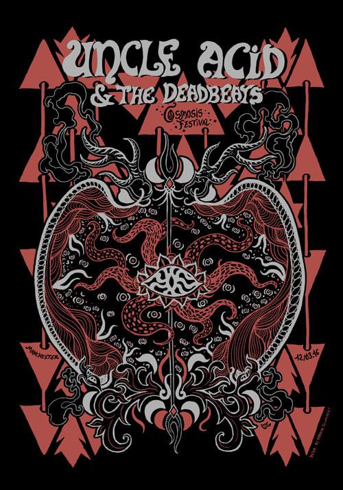 UNCLE ACID & THE DEADBEATS (Cosmosis 2016) screenprinted poster