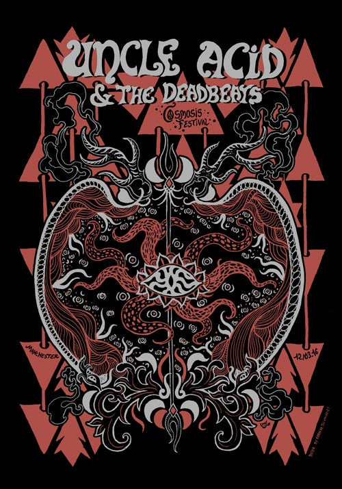 Image of UNCLE ACID & THE DEADBEATS (Cosmosis 2016) screenprinted poster