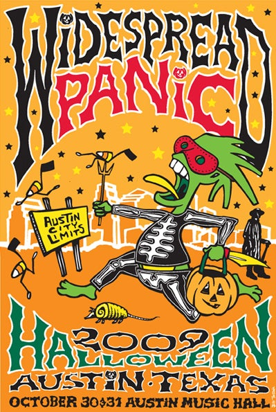 Image of Widespread Panic Austin Texas Halloween 2009