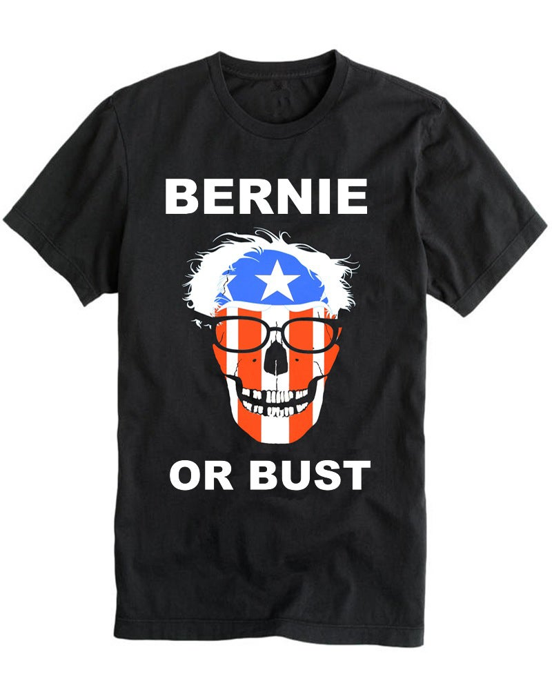 Image of BERNIE OR BUST 2016 black tee