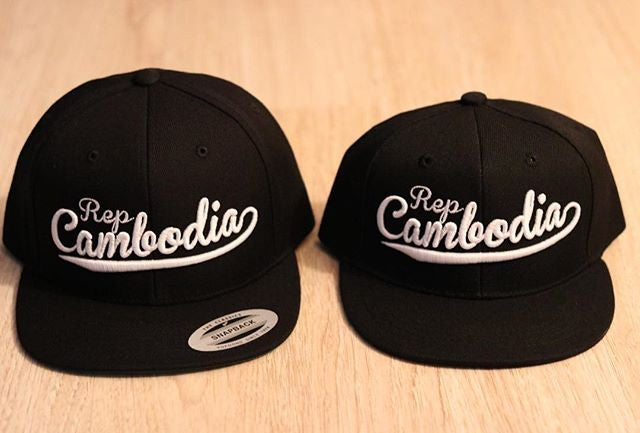 Image of Rep Cambodia Baseball Script Snapback Adult/Youth
