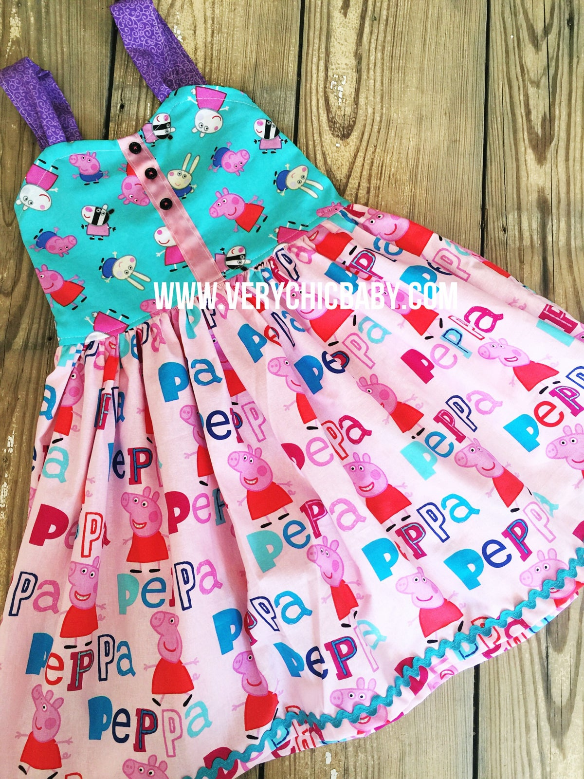 Image of Peppa Pig Reverse Knot Dress