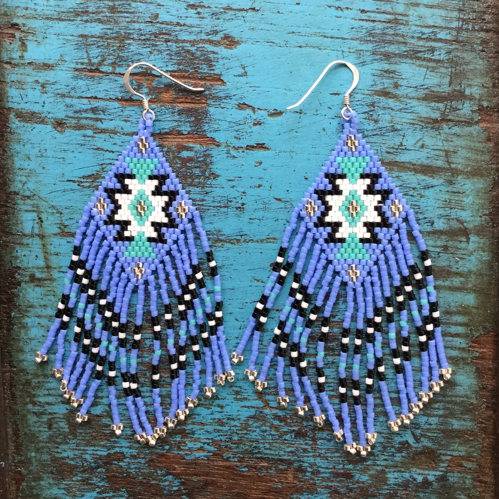 Image of Native American style seed bead earrings
