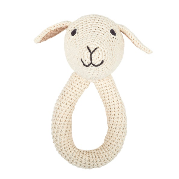 Image of Lamb ring - nature - with bell inside