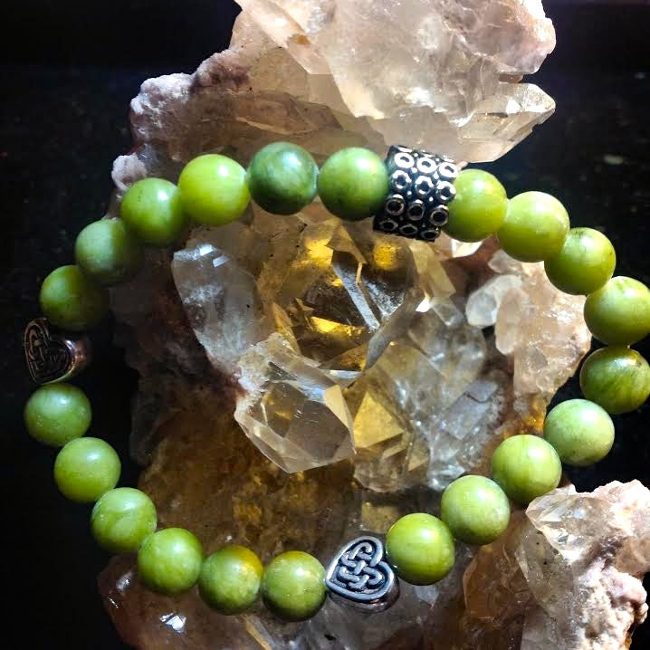 Image of For a Celtic Goddess <3 Connemara Marble with Celtic Beads from Ireland <3