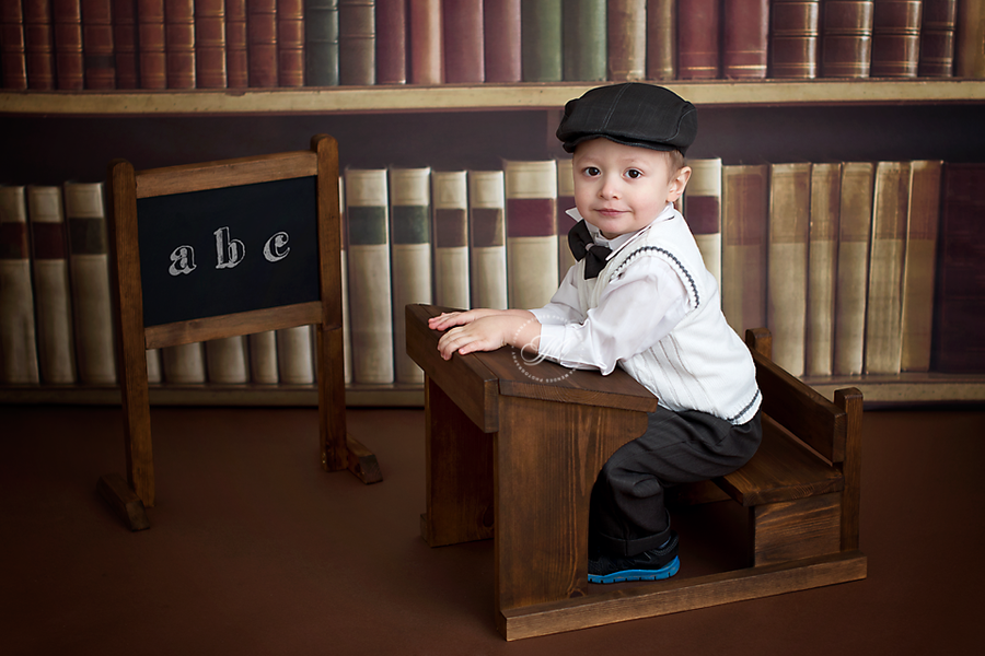 Image of Solid Wood School Desk Newborn baby photography prop