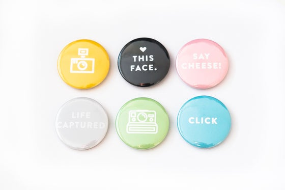 Image of 'Picture This' set of six flair buttons