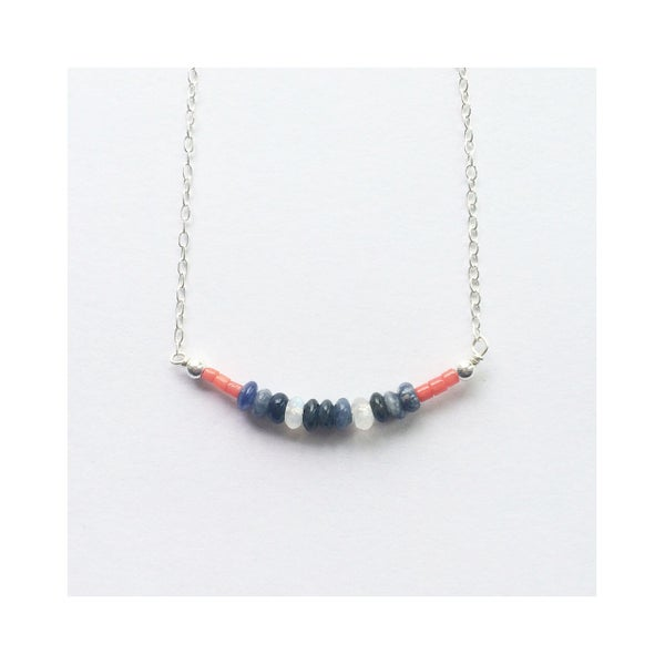 Image of Tides Necklace - with coral, moonstone, sodalite + sterling silver