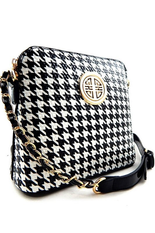 Image of Houndstooth Satchel