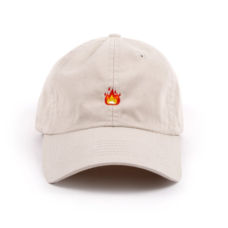 "Image of  ""Fire"" Low Profile Sports Cap - Stone"
