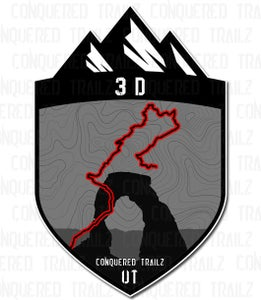 "Image of ""3D"" Trail Badge"