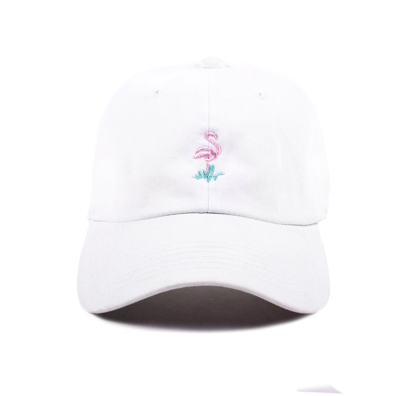 Image of  Flamingo Low Profile Sports Cap - White