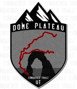 "Image of ""Dome Plateau"" Trail Badge"
