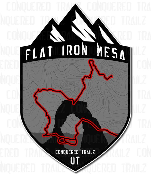 "Image of ""Flat Iron Mesa"" Trail Badge"
