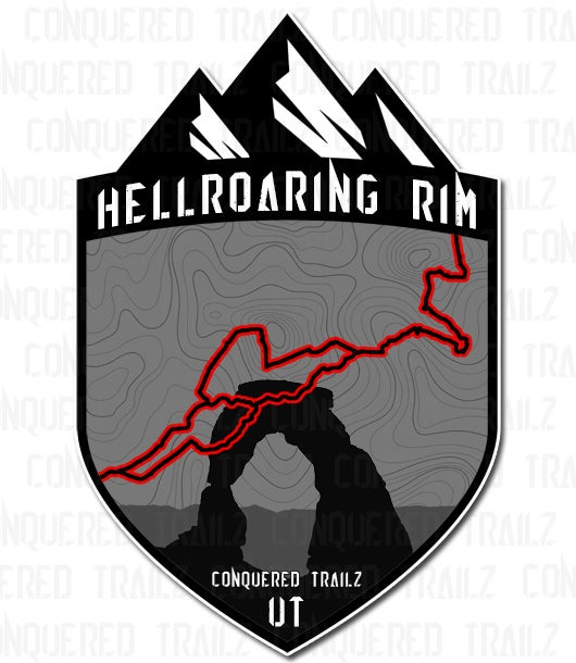 "Image of ""Hellroaring Rim"" Trail Badge"