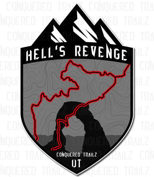 """Image of """"Hell's Revenge"""" Trail Badge"""