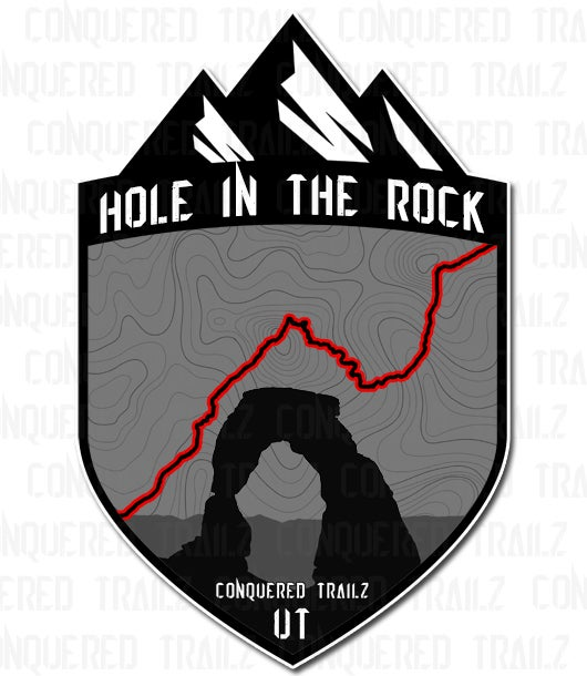 """Image of """"Hole In The Rock"""" Trail Badge"""