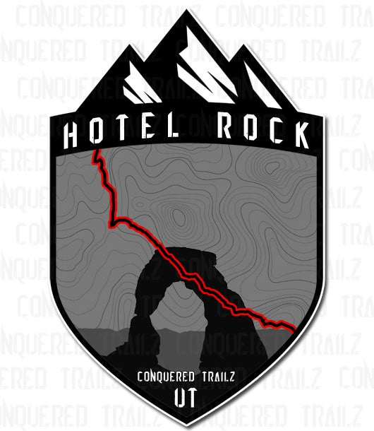 """Image of """"Hotel Rock"""" Trail Badge"""