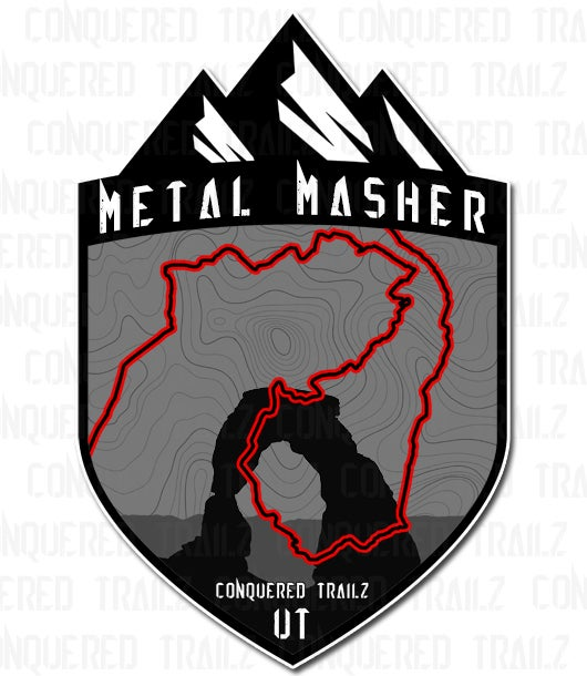 "Image of ""Metal Masher"" Trail Badge"