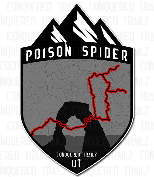 "Image of ""Poison Spider"" Trail Badge"