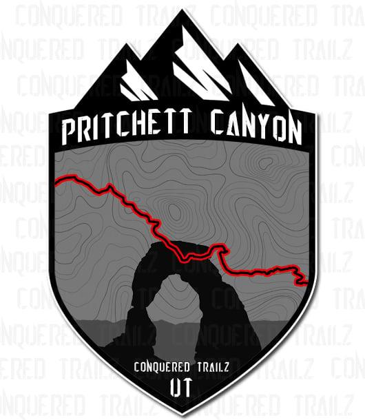 "Image of ""Pritchett Canyon"" Trail Badge"