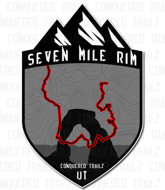 "Image of ""Seven Mile Rim"" Trail Badge"