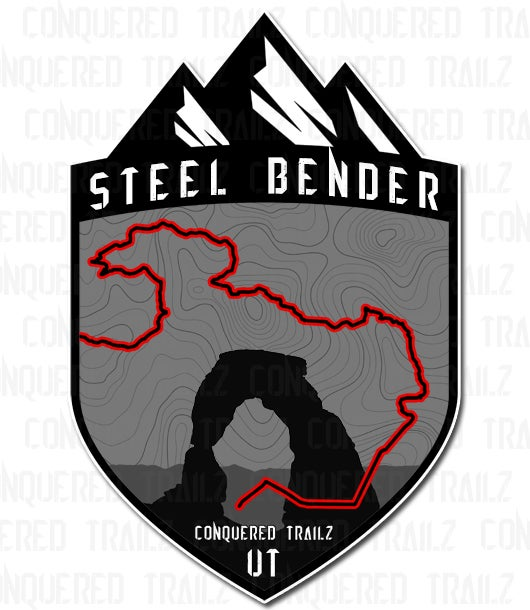 "Image of ""Steel Bender"" Trail Badge"