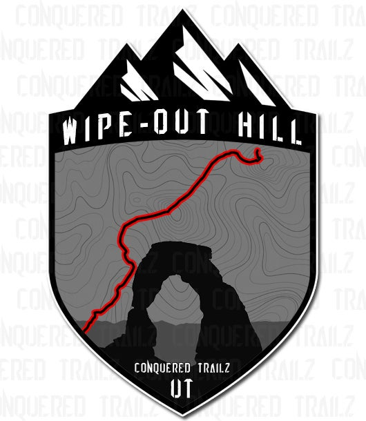 """Image of """"Wipe-Out Hill"""" Trail Badge"""