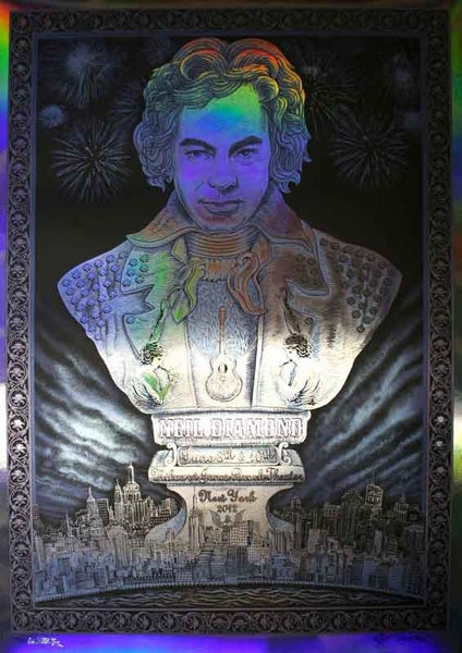 "Image of Neil Diamond ""Bust"" Foil by EMEK"