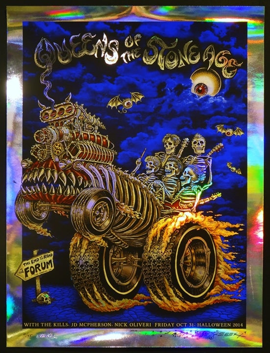 "Image of QOTSA ""Halloween Hotrod"" Foil by EMEK"