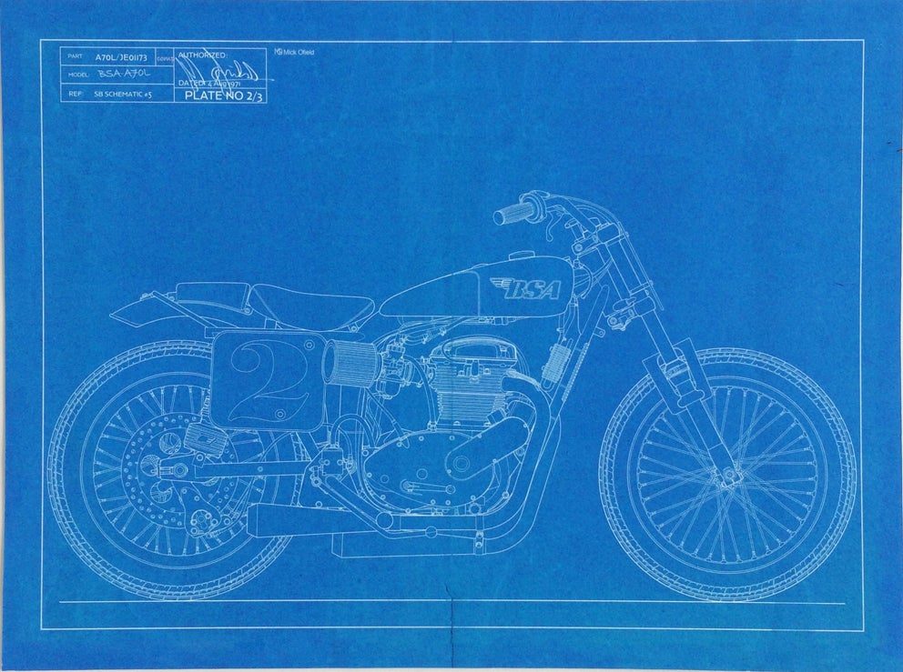 Image of BSA Trackmaster Giclee Print