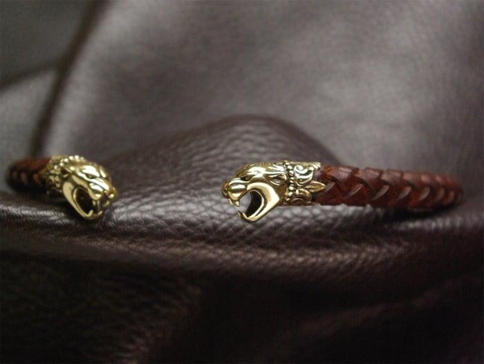 TORC - Bronze Pantera Heads & Genuine Leather