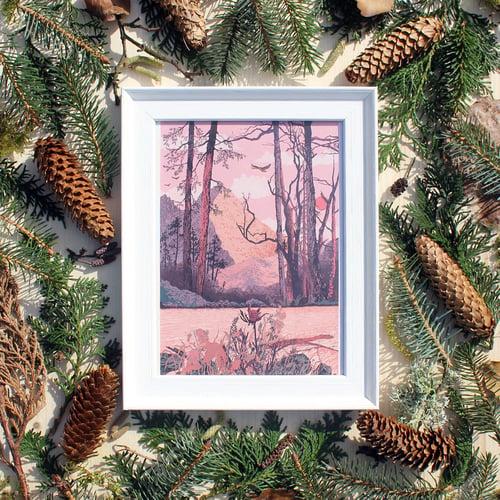 Image of Golden Mountain Print